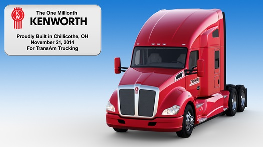 Kenworth one millionth truck