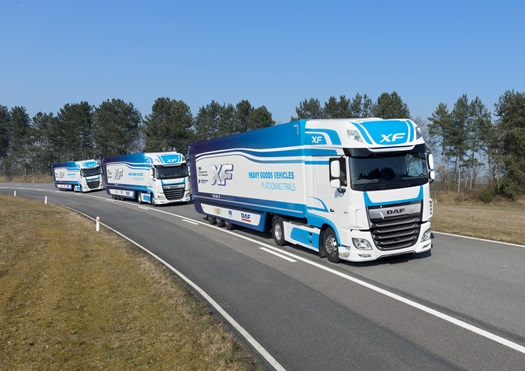 DAF Trucks participates in UK truck platooning trial