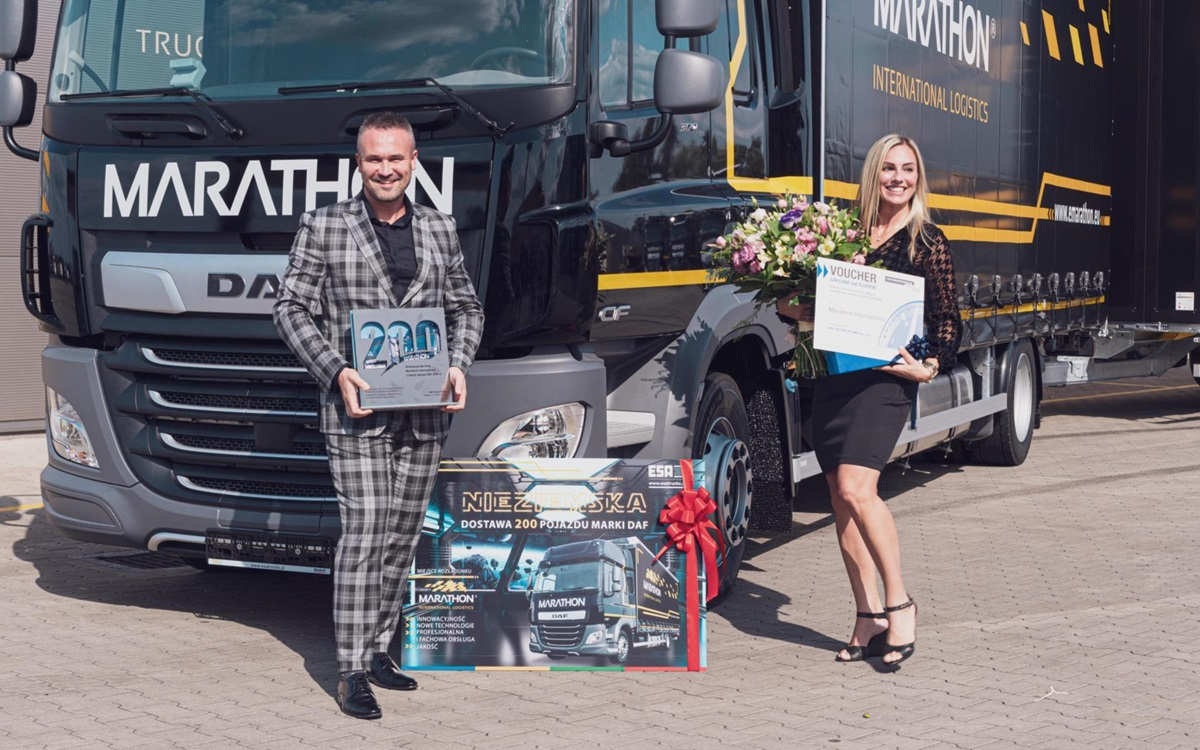 DAF Trucks Marathon delivery 200th DAF